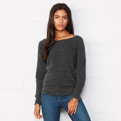 Plain Sponge fleece wide neck sweatshirt Bella +Canvas 280 GSM