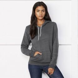 Plain Unisex polycotton fleece pullover hoodie Bella+Canvas 240 GSM