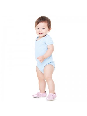 Plain Baby Rib Short Sleeve One Piece Bella 195 GSM
