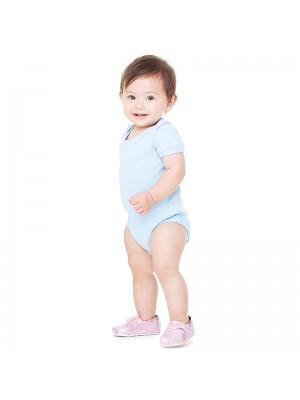 Plain Baby Rib Short Sleeve One Piece Bella 195 GSM