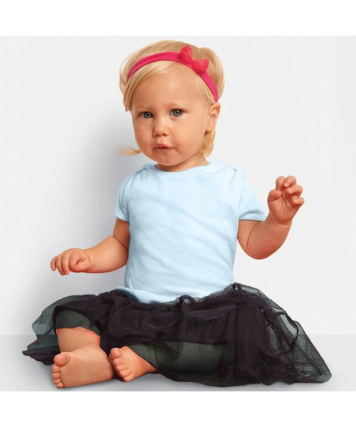 Plain Baby Rib Short Sleeve T-Shirt Bella 195 GSM