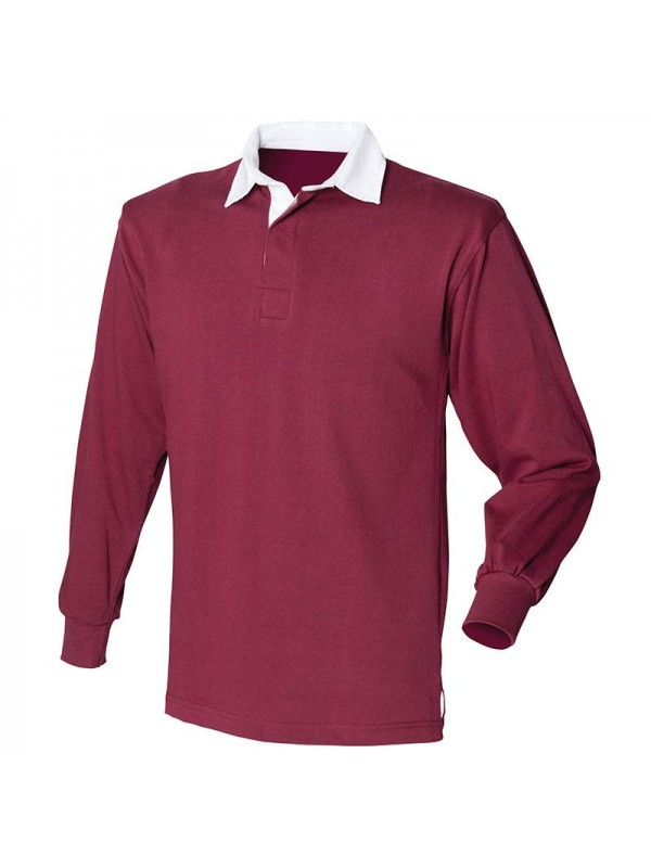 151358b6ad7f81 Front Row Long Sleeve Original Mens Classic Traditional Rugby shirt Casual  Plain Shirts