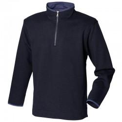 Plain Supersoft ¼ zip sweatshirt Front Row 280 GSM
