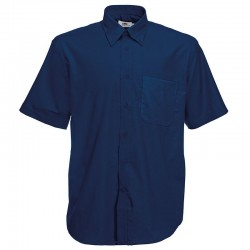 Plain shirt Oxford short sleeve FRUIT of the LOOM 130 GSM