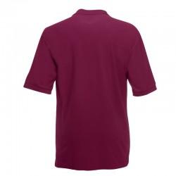 Plain Polo Shirt 65/35 Heavy Pique Fruit of the Loom White 220 gsm Cols 230 GSM