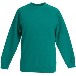 Plain Classic 80/20 kids raglan sweatshirt Fruit Of The Loom 280 GSM