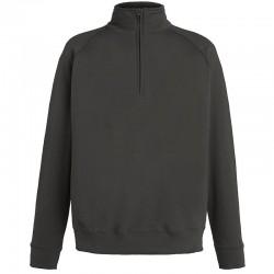 Plain Sweatshirt Lightweight Zip Neck Fruit Of The Loom 240 GSM