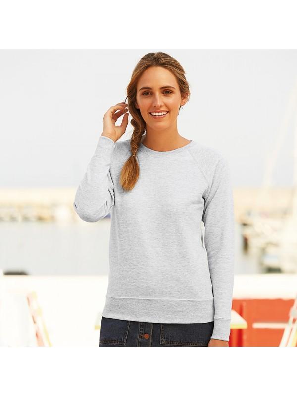 Fruit of the Loom Ladies Long Sleeve Sweatshirt Womens Lightweight Raglan Top