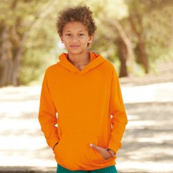 Kids Plain Sweatshirt Hooded Fruit of the Loom 240 GSM