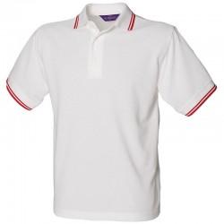 Plain 65/35 tipped piqué polo shirt Henbury 200 GSM