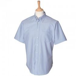 Plain classic Oxford shirt  Short sleeve Henbury 170 GSM