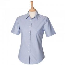Plain classic Oxford Women's short sleeve Henbury 170 GSM