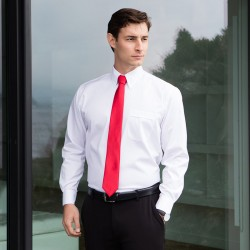 Plain Oxford Shirt Long Sleeve Henbury 130 GSM