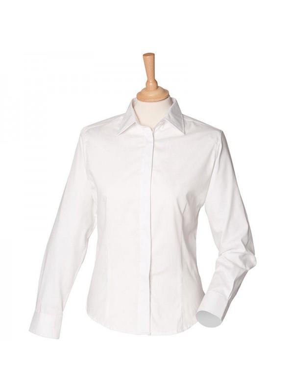 Plain oxford shirt ladies long sleeve henbury 130 gsm for T shirt printing oxford