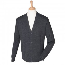 Plain V Neck Cardigan Lightweight Henbury