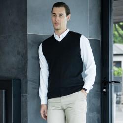 Plain Sweater Lightweight Sleeveless V Neck Henbury 290 GSM