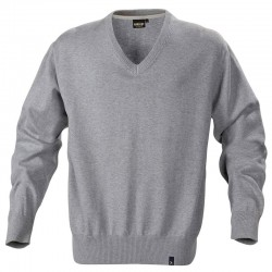 Plain Lowell v-neck knitted sweater Harvest 430 GSM