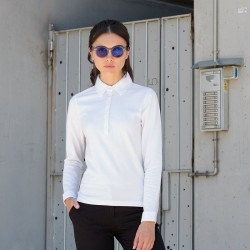 LADIES LONG SLEEVE STRETCH POLO SHIRT Skinnifit 200 GSM