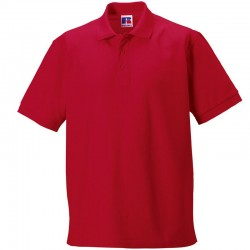 Plain Ultimate classic cotton polo Russell White 210gsm, Colours 215 GSM