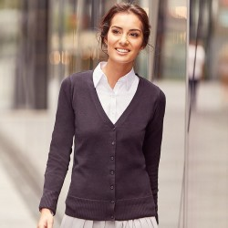 Plain V Neck Cardigan Collection Ladies Russell 275 GSM