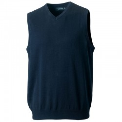 Plain V Neck Sweater Collection Sleeveless Russell 275 GSM
