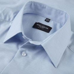 Plain Oxford Shirt Long Sleeve Tailored Russell White 130 gsm Cols 135 GSM