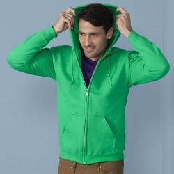 Plain Sweatshirt Heavy Blend Zip Hooded Gildan White 265 gsm Cols 280 GSM