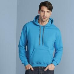 Plain Sweatshirt Premium Cotton Hooded Gildan White 302 gsm Cols 309 GSM
