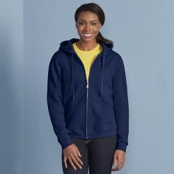 Plain Zip Hooded Sweatshirt Heavy Blend™ Ladies Gildan White 265 gsm Cols 280 GSM