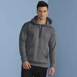 Plain Performance adult tech hooded sweatshirt Gildan 244 GSM