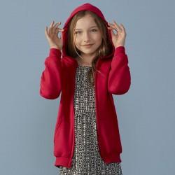 Plain Heavy Blend™ Kids full zip hooded Gildan White 265gsm, Colours 279gsm
