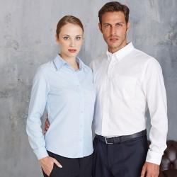 Plain Long sleeve easycare Oxford shirt Kariban White 130gsm, Colours 135gsm