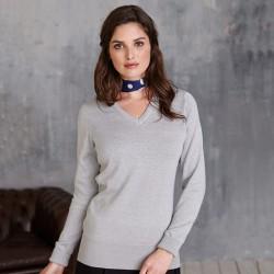 Plain V Neck Sweater Ladies Cotton Acrylic Kariban 290 GSM
