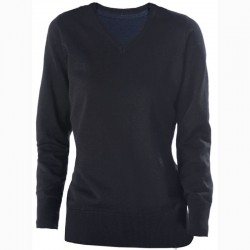Plain V Neck Sweater Ladies Cotton Acrylic Kariban 290 GSM