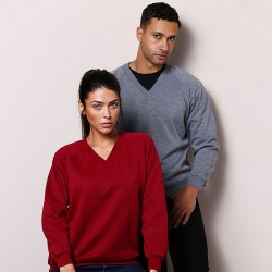Plain Coloursure™ v-neck sweatshirt Maddins 260 GSM
