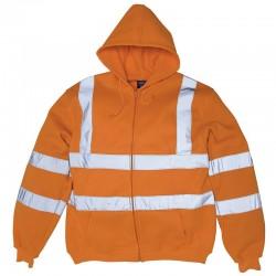 Plain Hi-vis zip hoodie Yoko 280 GSM