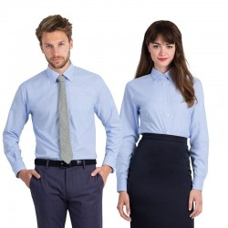 Plain Oxford long sleeve /women B&C 135 GSM