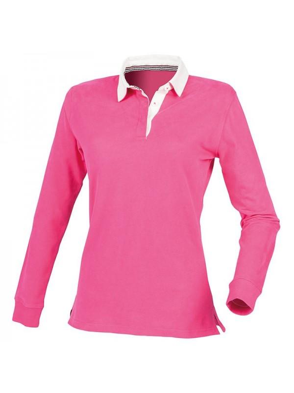 Plain rugby shirt premium superfit front row 300 gsm for Premium plain t shirts