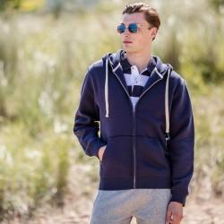 Plain Sweatshirt Zip Hooded Front Row 330 GSM