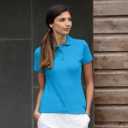 Plain Polo Shirt Ladies Stretch Pique Henbury 200 GSM