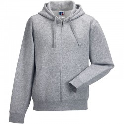Plain Authentic zipped hooded sweat Russell 280 GSM