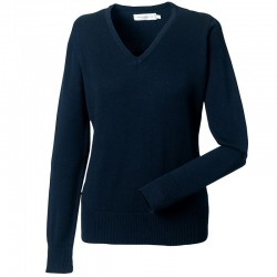 Plain V Neck Sweater Collection Ladies Russell 275 GSM