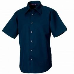 Plain Tencel Fitted Shirt Short Sleeve Russell 136 gsm
