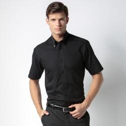 Plain Shirt Short Sleeve City Business Kustom Kit White 120 gsm Cols 125 GSM