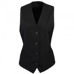 Plain Waistcoat Ladies Lined Premier 185 GSM