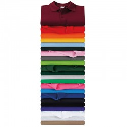 Plain Premium polo Fruit Of The Loom White 170, Colours 180 GSM