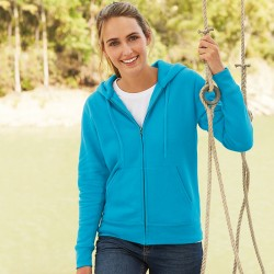 Plain Zip Hooded Jacket Lady Fit Fruit of the Loom 280 GSM