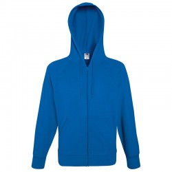 Plain Sweatshirt Lightweight Zip Hooded Fruit of the Loom 240 GSM
