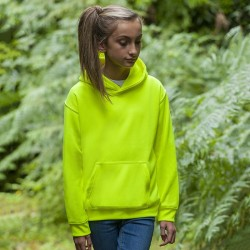 Plain Kids electric hoodie AWDis 280 GSM