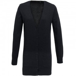 Plain Women's longline knitted cardigan Premier 12 Gauge